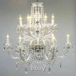 12 Light Venetian Style Made With Swarovski Crystal Chandelier Dining Room