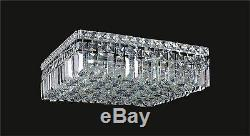 6-Light Contemporary-Style CRYSTAL Chrome CEILING FIXTURE (L16 x W16 x H5.5)