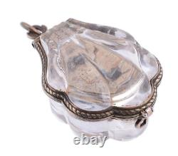 A Continental Renaissance style silver mounted rock crystal'form watch