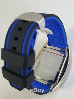 Aqua Master men's diamond watch blue style pyramid crystal chronograph excellent