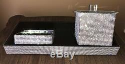 BELLA LUX STYLE Set of 3 FULL CRYSTAL RHINESTONE Bling Glam ACCESSORIES Luxury