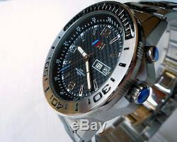 BMW M Power Motorsport Carbon Racing Car Accessory GTS GTR Style Automatic Watch