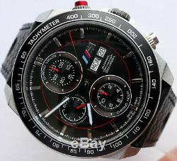 BMW M Style Power Motorsport Racing Car Accessory Automatic Watch Chronograph