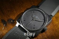 Bell and Ross BR03-92-S Phantom PVD Military Style Watch Luxury Automatic Date