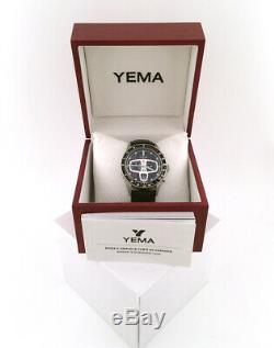 Boxed Yema Rallygraf Vintage Style Quartz Chronograph Watch Contemporary Reissue