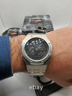 Casio G-Shock GA2100-1A1 with 3rd Generation stainless steel AP-style mod. Beauty