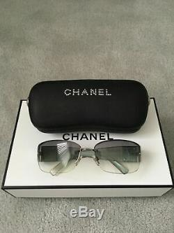 Chanel Womens Sunglasses with Swarovski Crystals Style 4117-B Authentic