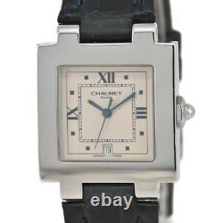 Chaumet Style Carre Silver Dial SS/Laether Quartz Unisex Watch A#96859