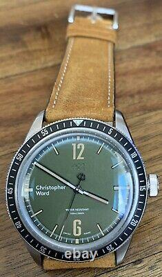Christopher Ward C65 Trident Diver Vintage Style Green Dial Manual Watch