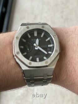 Custom G-shock Ga-2100 CasioOak Stainless Steel With An AP Style Strap Real