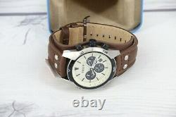 Fossil Mens Coachman Chronograph Leather Watch Style CH2890 Leather Strap
