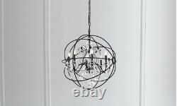 Foucault's Orb Clear Crystal Cage Large XL Restoration Hardware Style 35 High