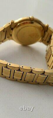GUCCI 9200M Gold Plated Vintage Style Mens Watch Excellent Cond, Original Box