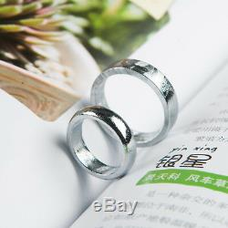 Genuine Natural Gibeon Meteorite Silver Plated Round Style Ring Size 12