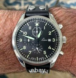 Laco Triers Chronograph German Watch, Discontinued Flieger Style Watch