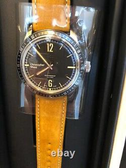 New Christopher Ward C65 Trident Diver Vintage Style 41MM Black Dial Watch