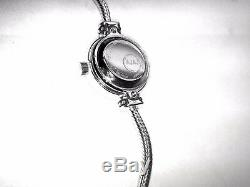 PANDORAS style sterling silver watch with mother of pearl face