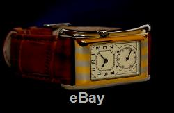 Prince Brancard Doctors Tiger Stripe Watch Duo ivory Dial 1930s Style 05