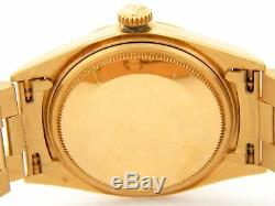 Rolex Datejust 1601 Mens 18K Yellow Gold Watch President Style Band Blue Dial