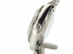 Rolex Datejust Lady Stainless Steel Watch White MOP Diamond President Style Band
