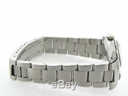 Rolex Datejust Men Stainless Steel Watch Oyster Style Band Red Diamond Dial 1603