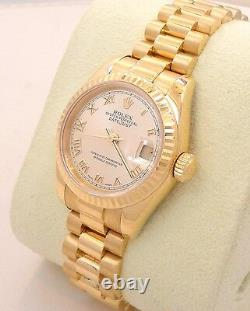 Rolex President Datejust 179178 18K Yellow Gold New Style Lady's Watch Mint