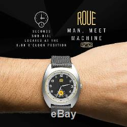 Roue SSD Watch with Seconds Sub dial, 1960s Racing Style, 41.5mm Sand Blasted