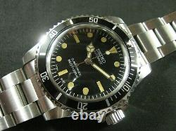 SEIKO Mod Aged Sub Style NH36 Thick Acrylic Crystal Water Proof A1 Condition