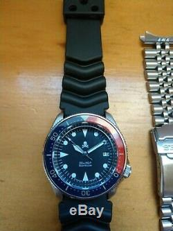 Seiko Diver SKX Mod Watch Vintage Style with Sapphire Crystal & Lumed Bezel Insert