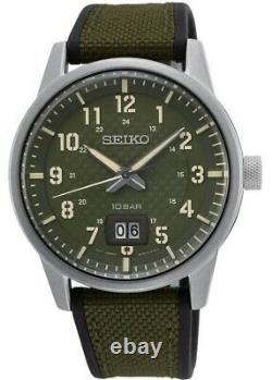 Seiko Gents Military Style Watch SUR323P1 NEW