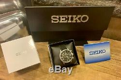 Seiko SSB367P1 Lord Chronograph Quartz Black Dial Men's Watch Military Style