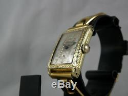 Serviced. 1920`s Bulova Art Deco. Brand New Link Style Band / New Crystal