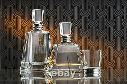 Solid Silver & Glass Art Deco Style Decanter (bnib) Wine, Spirits, Whisky