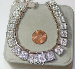 Swarovski Swan Crystal Link Collar style Silver tone Chain Necklace Gift Box