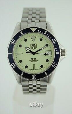 Tag Heuer 1000 980.113N Lume Dial Submariner Night Diver Style Watch