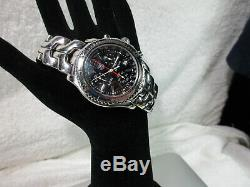 Tag Heuer Link Chronograph CT1111 Jason Bourne Style Black Dial Mens Steel Watch