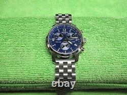 Tissot PRC 200 Blue Dial Chrono. With 2. Bracelets & racing style leather strap