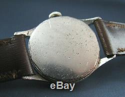 Vintage Longines Wittnauer Stainless Steel Military Style Mens Watch 11ES WW2