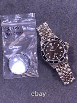 Vintage TAG HEUER 1000 980.013 Black Dial Submariner 844 Monnin Style Watch