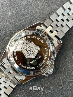 Vintage TAG HEUER 1000 980.013 Black Re Red Coke Submariner Style Diver Watch
