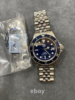 Vintage TAG HEUER 1000 980.613 Blue Submariner Style Dive Watch