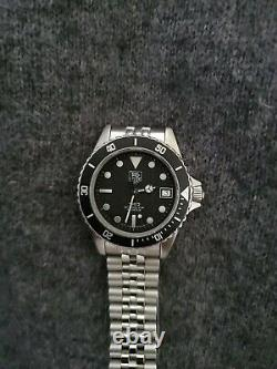 Vintage TAG HEUER 1000 Black Submariner Style Dive Watch Authentic