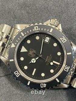 Vintage TAG HEUER 1000 Gilt Dial 980.029 Submariner 980.013 Style Dive Watch