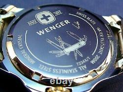 Wenger Swiss Army 7234X/T diver style Swiss made ss 2 tone men watch with box NOS